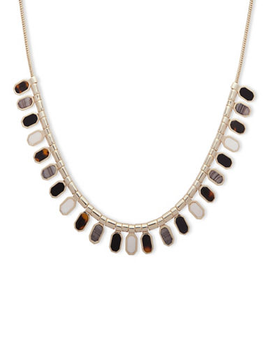 Ivanka Trump Octagon Frontal Necklace-BROWN-One Size