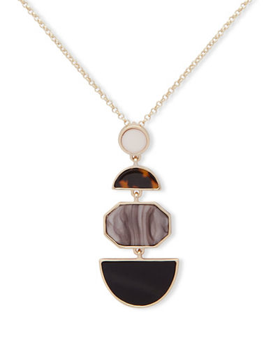 Ivanka Trump Geometrical Pendant Necklace-BROWN-One Size