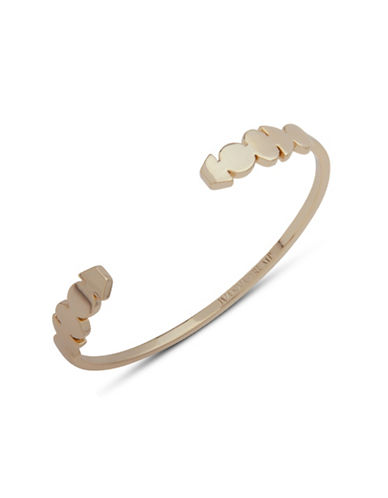Ivanka Trump Sculptured Thin Cuff Bracelet-GOLD-One Size