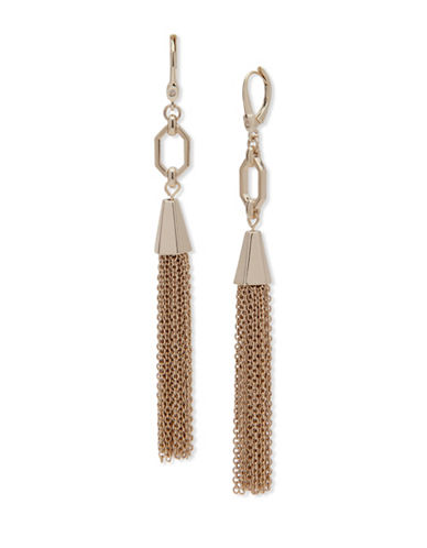 Ivanka Trump Linear Tassel Drop Earrings-GOLD-One Size