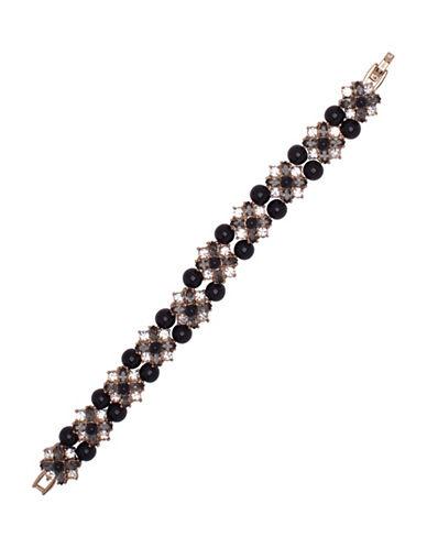 Marchesa Faux Pearl Pendant Bracelet-BLACK-One Size