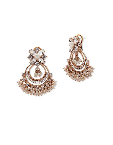 Marchesa Faux Pearl Chandelier Earrings-WHITE-One Size