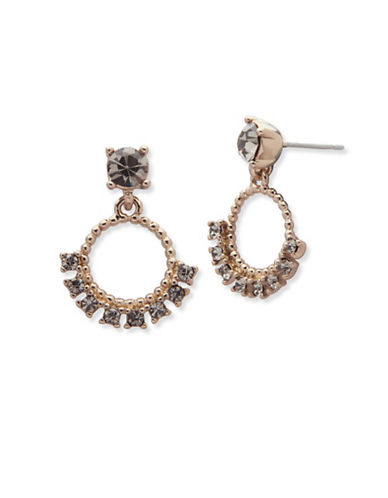Marchesa Studded Orbital Drop Earrings-GREY-One Size