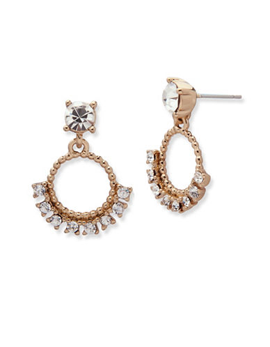 Marchesa Studded Orbital Drop Earrings-GOLD-One Size