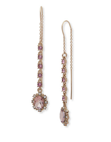 Marchesa Faceted Threader Drop Earrings-PINK-One Size