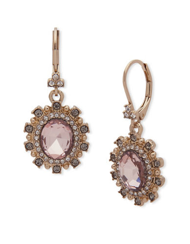 Marchesa Floral Drop Earrings-PINK-One Size