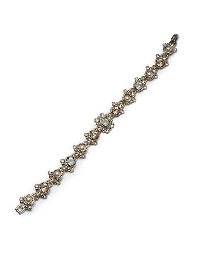 Marchesa Faux-Pearl Pendant Bracelet-GREY-One Size