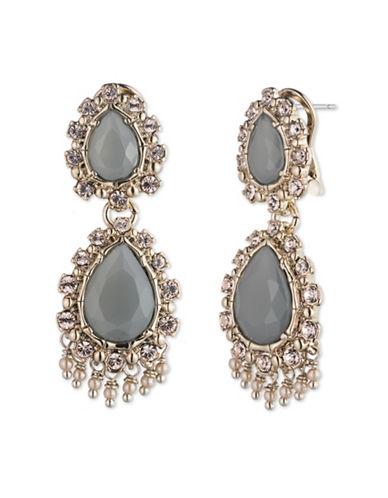 Marchesa Teardrop Earrings-GREY-One Size