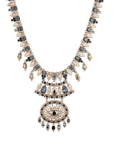 Marchesa Chandelier Pendant Necklace-GOLD-One Size