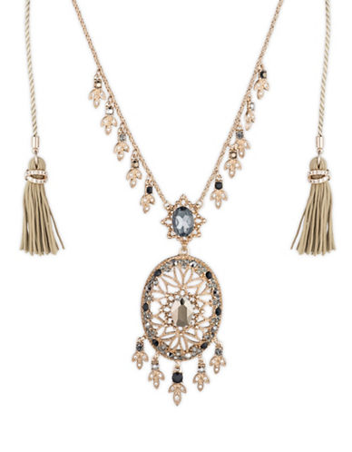 Marchesa Chandelier Pendant Necklace-GOLD-One Size