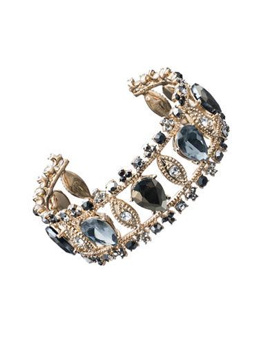 Marchesa Tri-Tone Cuff Bracelet-GREY-One Size