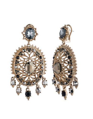 Marchesa High Drama Chandelier Earrings-GREY-One Size