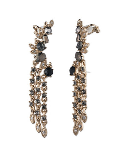 Marchesa High Drama Crawler Earrings-GREY-One Size
