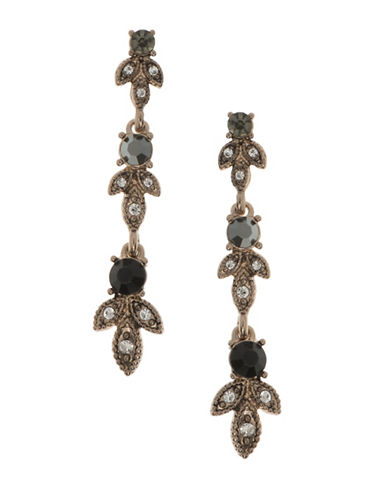Marchesa Teardrop Linear Earrings-GREY-One Size