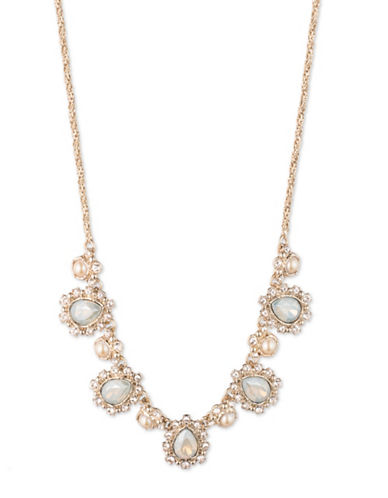 Marchesa Cluster Frontal Necklace-WHITE-One Size