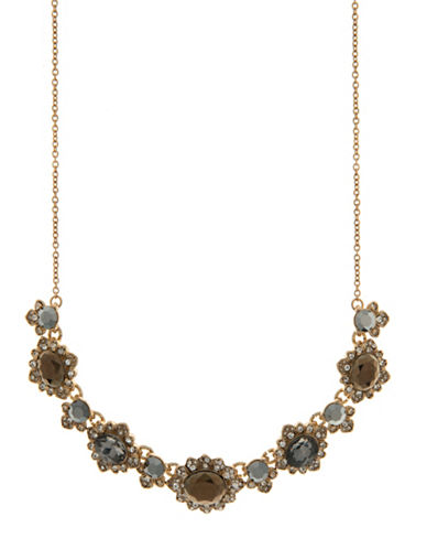 Marchesa Cluster Frontal Necklace-GREY-One Size