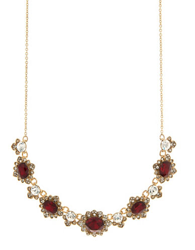 Marchesa Arch Frontal Necklace-RED-One Size