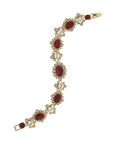 Marchesa Pave Flex Bracelet-RED-One Size