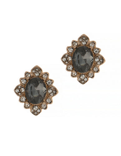 Marchesa Studded Button Earrings-GREY-One Size