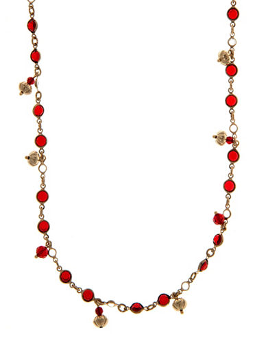 Marchesa Long Shaky Strand Necklace-RED-One Size