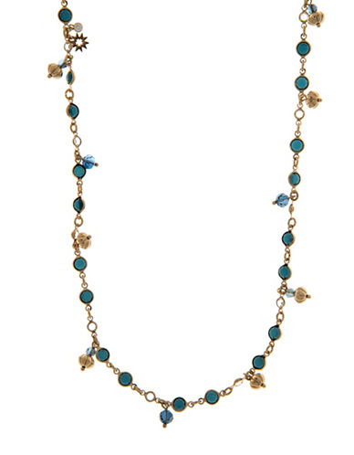 Marchesa Crystal Strand Necklace-BLUE-One Size