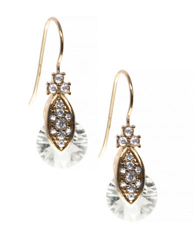 Marchesa Pave Drop Earrings-GOLD-One Size