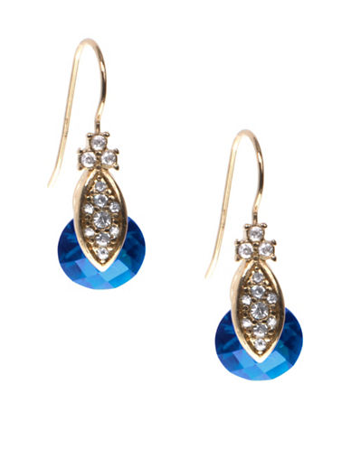 Marchesa Multi-Coloured Goldtone Drop Earrings-BLUE-One Size