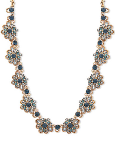 Marchesa Crystal Collar Necklace-BLUE-One Size