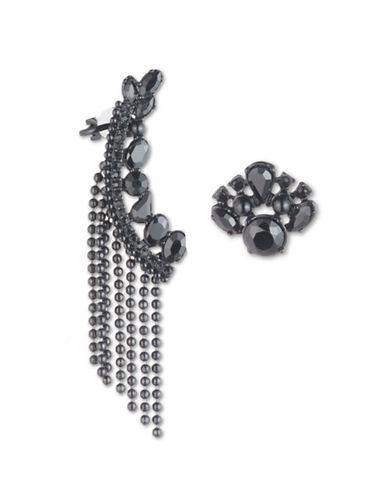 Marchesa Jetblack Mismatch Earrings-BLACK-One Size