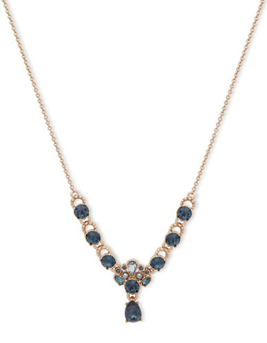 Marchesa Crystal Statement Necklace-BLUE-One Size
