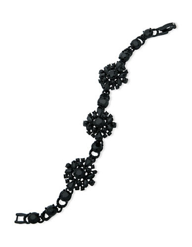 Marchesa Crystal Flex Bracelet-BLACK-One Size