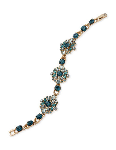 Marchesa Crystal Flex Bracelet-BLUE-One Size