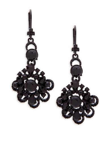 Marchesa Jetblack Chandelier Earrings-BLACK-One Size