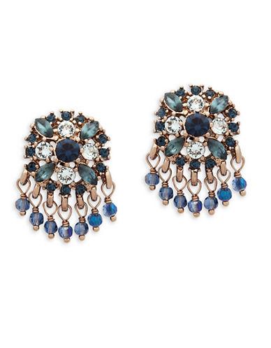 Marchesa Crystal Chandelier Earrings-BLUE-One Size