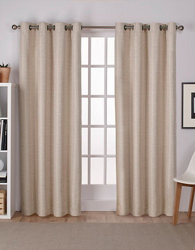 Home Outfitters Thermal Room Darkening Curtain Panel Pair-TAUPE-84 inches