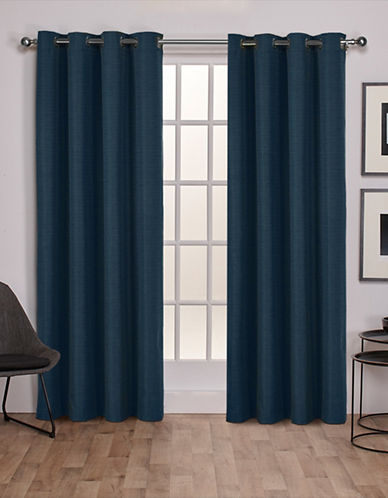 Home Outfitters Thermal Room Darkening Curtain Panel Pair-MALLARD BLUE-96 inches