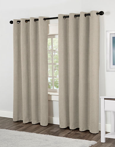 Home Outfitters Jakarta Two-Pack Window Curtains-BEIGE-84 inches