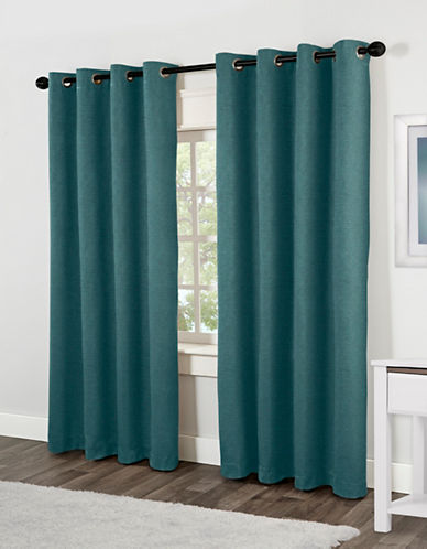 Home Outfitters Jakarta Two-Pack Window Curtains-TEAL-84 inches