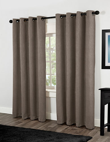 Home Outfitters Rita Two-Pack Window Curtains-TEAK-84 inches