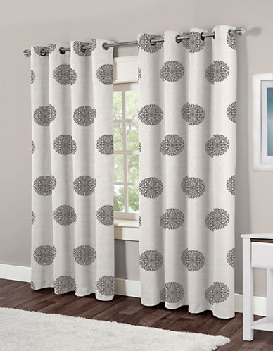 Home Outfitters Sedgewick Two-Pack Window Curtains-BLACK-One Size