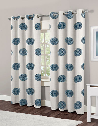 Home Outfitters Sedgewick Two-Pack Window Curtains-TEAL-One Size