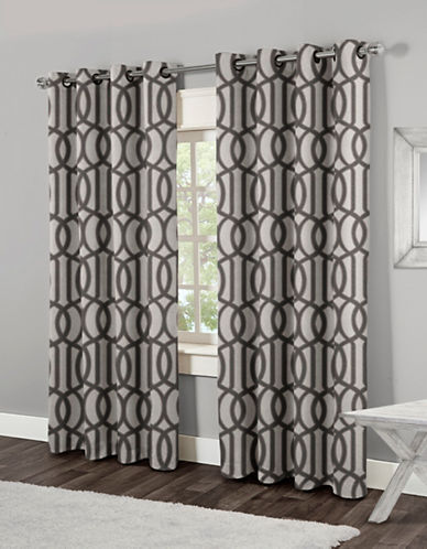 Home Outfitters Trincity Two-Pack Window Curtains-BLACK-84 inches