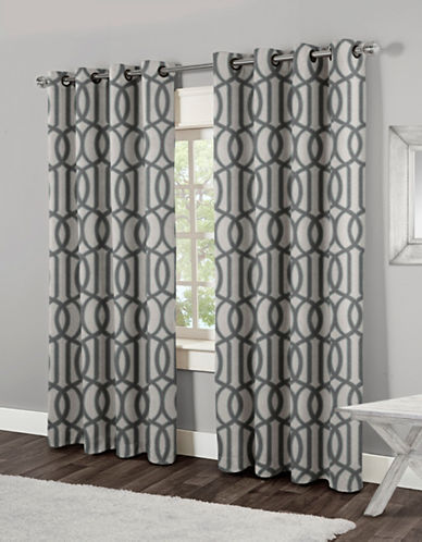 Home Outfitters Trincity Two-Pack Window Curtains-STEEL BLUE-84 inches