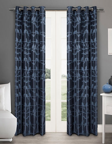 Home Outfitters Lovebirds Two-Pack Window Curtains-INDIGO-One Size