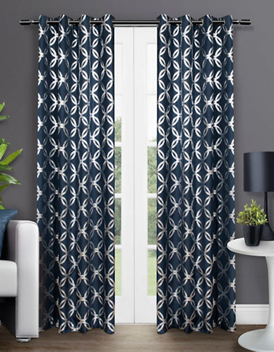Home Outfitters Modo Two-Pack Window Curtains-INDIGO-84 inches