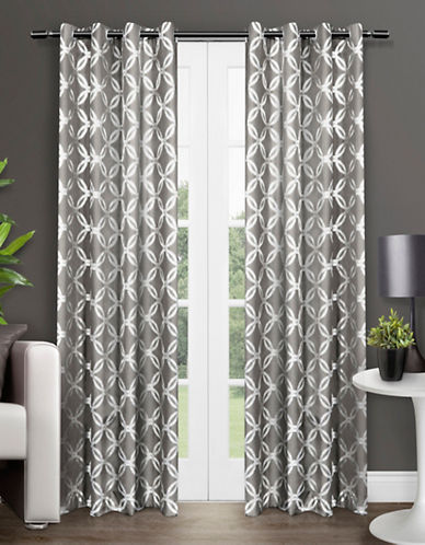 Home Outfitters Modo Two-Pack Window Curtains-BLACK-One Size