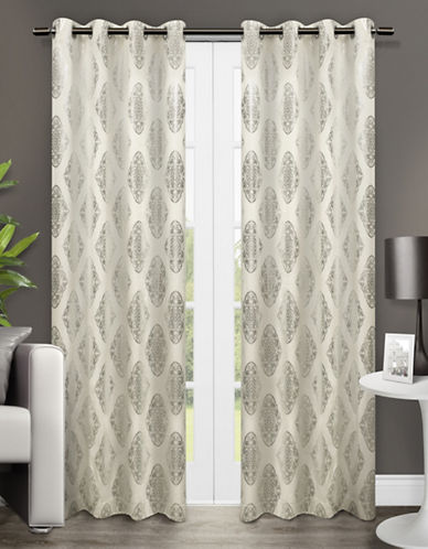 Home Outfitters Augustus Two-Pack Window Curtains-OFF-WHITE-One Size