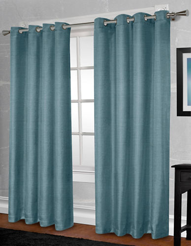 Home Outfitters Shantung Two-Pack Window Curtains-TEAL-One Size