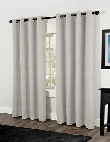 Home Outfitters Two-Pack Textural Foam-Backed Window Curtains-OFF-WHITE-One Size