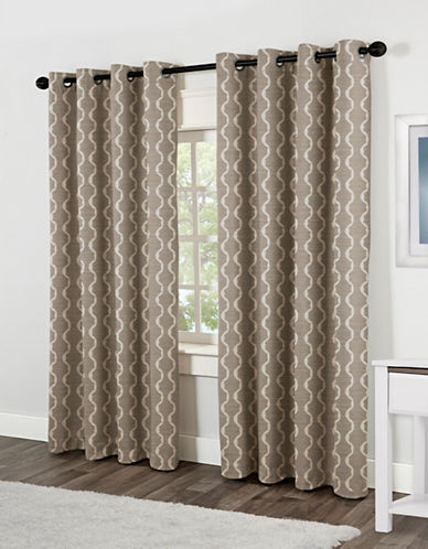 Home Outfitters Baroque Two-Pack Window Curtains-NATURAL-84 inches